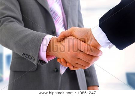 handshake isolated on white background