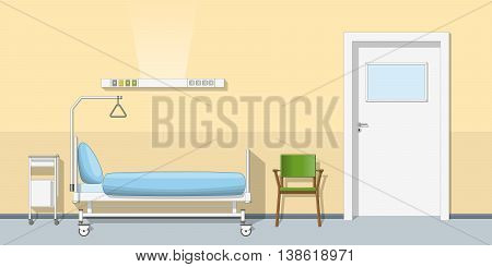 Illustration of a modern sickroom, vector illustration