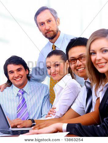 businessteam in offece