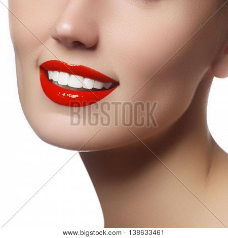 Beautiful Face With Clean Fresh Skin. Portrait Young Woman