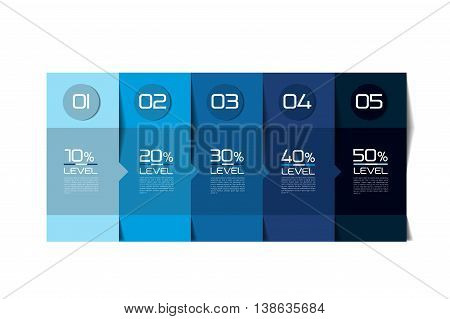 Table, schedule template. Step by step. Vector illustration.