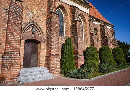 Gothic monastery church in Gniezno in Poland