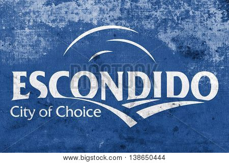 Flag Of Escondido, California, Usa, With A Vintage And Old Look