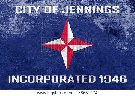 Flag Of Jennings, Missouri, Usa, With A Vintage And Old Look