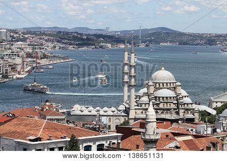 Eminonu New Mosque In Istanbul City
