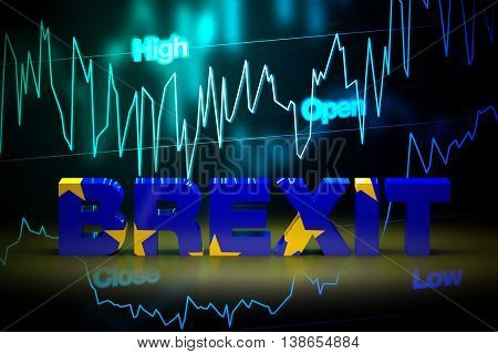 Brexit Financial Fluctuation, 3D Rendering