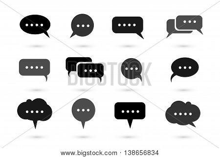 Speech bubble icons vector bubble text bubble callout