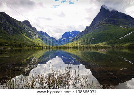View of Innerdalen - Norway's most beautiful mountain valley