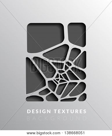 Abstact voronoi design background. Geometric vector illustration