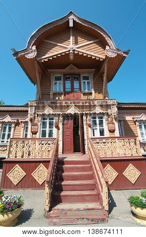Kaluga, Russia - July 12, 2014, Facade tower club-museum