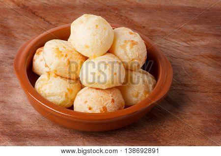 Brazilian Snack Cheese Bread (pao De Queijo) In Bowl