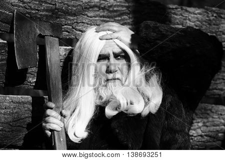 Old Man With Axe