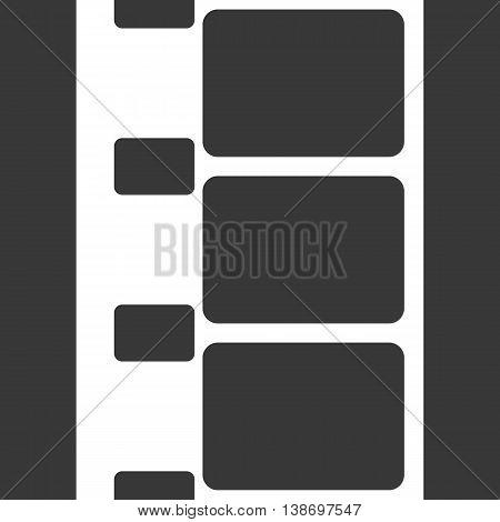 Vector 8 mm Film Strip Illustration on Black Background. Abstract Film Strip design template. Film Strip Seamless Pattern.