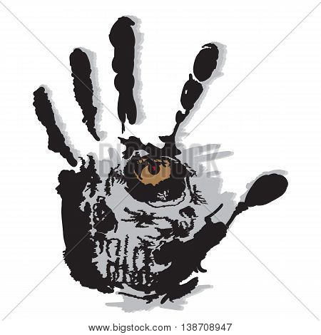 character moments of human life in the open palm, vector