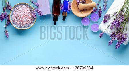 Essential oil, sea salt,towels and handmade soap
