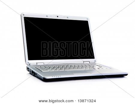 Professional Laptop isolated on white with empty space