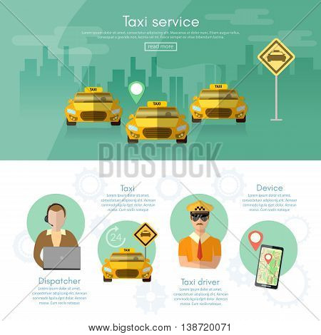 Taxi service dispatcher transport driver car challenge mobile app for booking