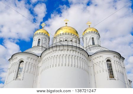 Transfiguration Cathedral of Holy Trinity Seraphim-Diveevo monastery in village of Diveevo Russia