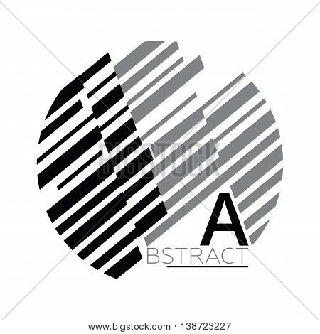 Simple universal geometric design of parallel lines in black and whine colors. Perfect for background on poster for book cover magazine layout and other backdrops poster