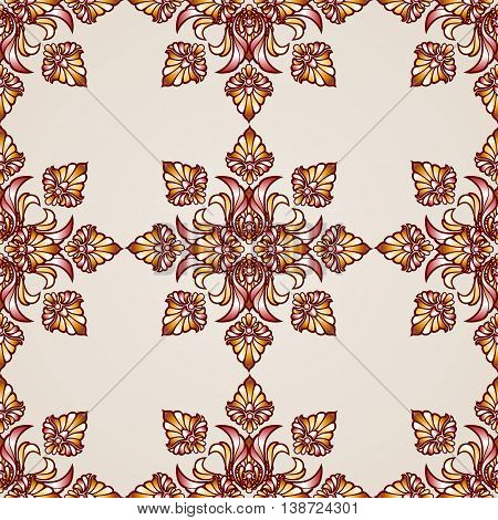 Ornate saturated seamless abstract the floral pattern