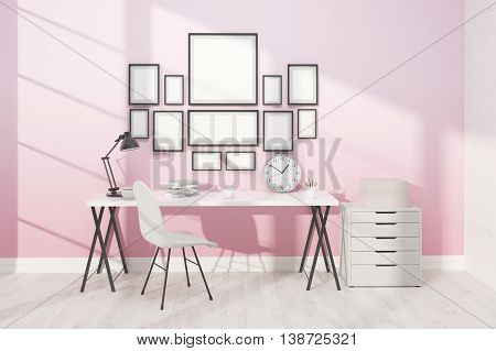 Working Space With Posters