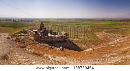 The Chorus Temple Hor Virap In The Mountains Of Armenia