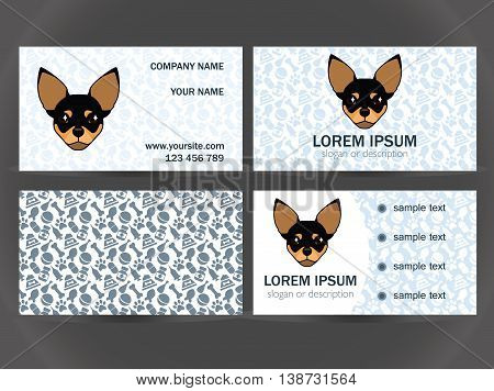 set design for the decoration of a small veterinary clinic kennel breeder shelter for animals on a blue background