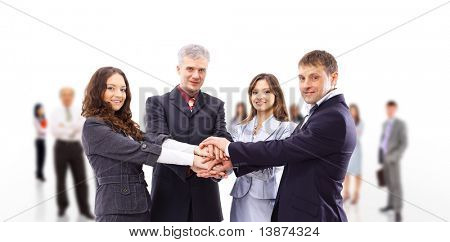 business team isolated over white background