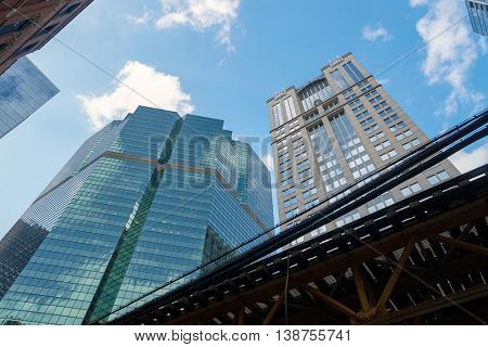 CHICAGO, IL - CIRCA MARCH, 2016: buildings at Chicago in the daytime. Chicago is the third most populous city in the United States.