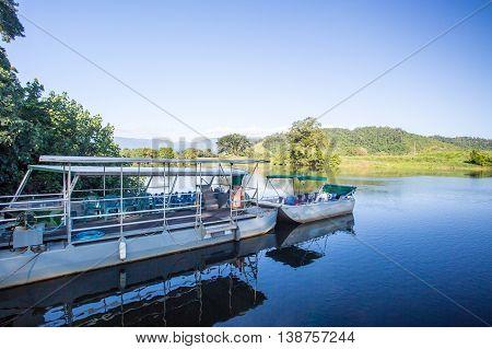 Daintree River cruises near the town of Daintree in far nth Queensland, Australia