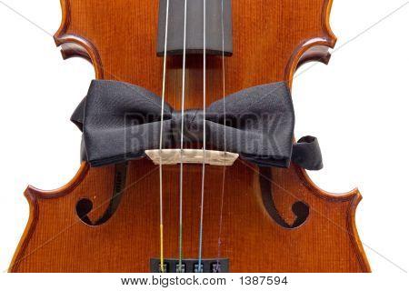 Violin With Bow Tie
