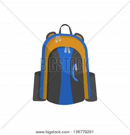 Schoolbag flat illustration. Bag for school. Image of backpack cartoon. knapsack