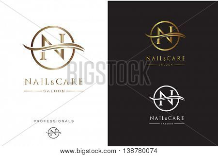 MONOGRAM N , IN A CIRCLE , PREMIUM LOGO DESIGN