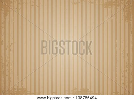 Kraft recycled paper texture vector. Vintage background with scrapes and stripes.