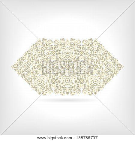 Vintage gold banner with vegetable elements, a vector illustration eps10