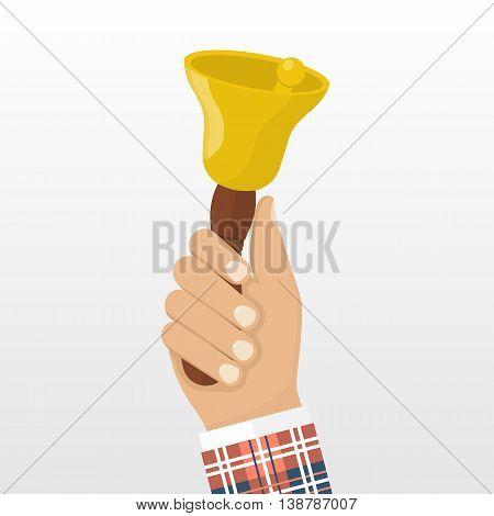 School Bell In Hand