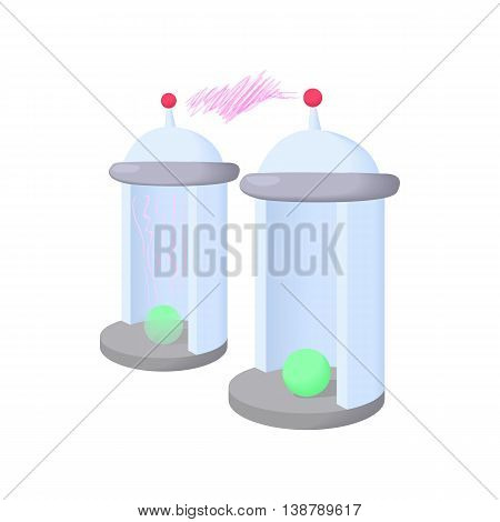 Electrical impulses icon in cartoon style isolated on white background. Innovation symbol