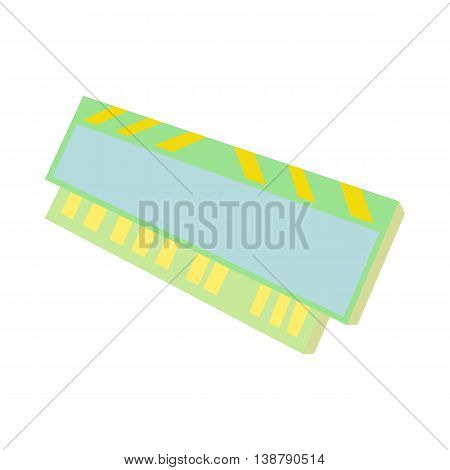 Computer ram icon in cartoon style isolated on white background. Technique symbol