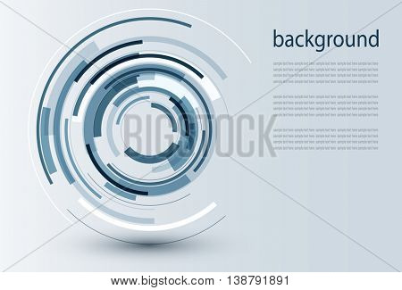 Business background blue, 3D vector illustration.