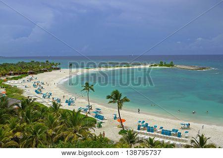 A beautiful view of Paradise Island. BAHAMAS.