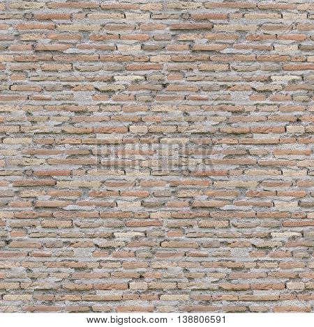 seamless old weathered brick wall background image