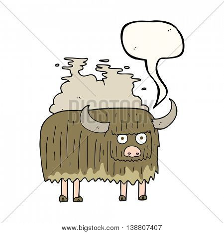 freehand drawn speech bubble cartoon smelly cow