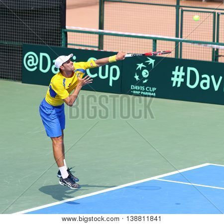Davis Cup Tennis Game Ukraine V Austria