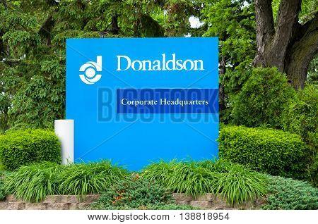 Donaldson Company Headquarters Exterior And Logo