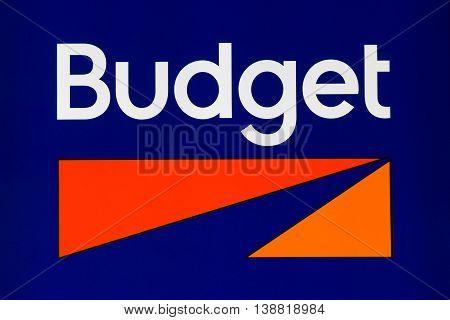 Budget Rent A Car Sign And Logo