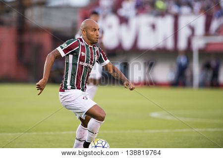 Rio de Janeiro Brazil - April 10 2016: Jonathan player in match between Fluminense and Cruzeiro by the Brazilian championship in the Giulite Coutinho Stadium