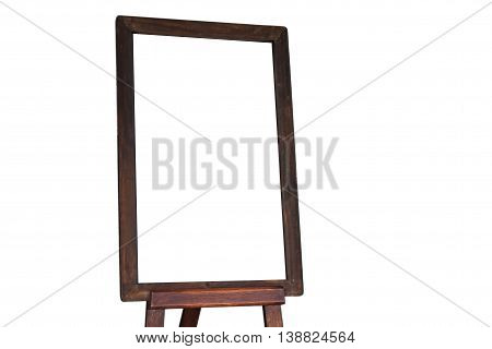 Empty menu board on white background, stock photo