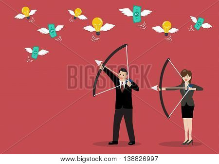 Business trick betray meanness situation concept. Vector illustration