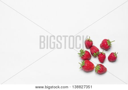 Healthy Eating In The Restaurant And Diet Topic: Beautiful Ripe Strawberries Isolated On A White Tab