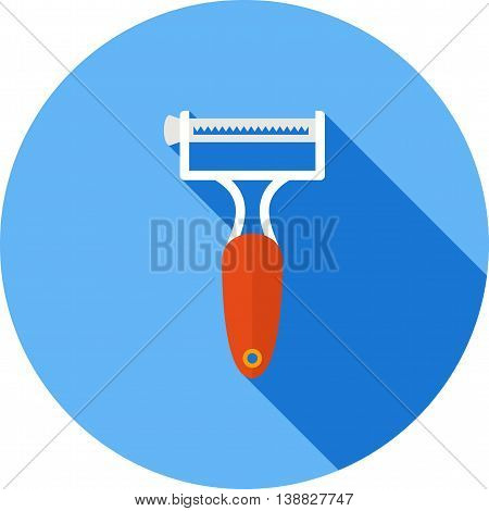 Peeler, potato, vegetable icon vector image. Can also be used for kitchen. Suitable for use on web apps, mobile apps and print media.
